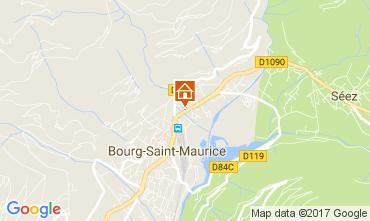 Map Bourg saint Maurice Apartment 112634