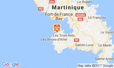 Map Trois Ilets Studio apartment 111190