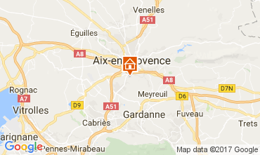 Map Aix en Provence Apartment 112710