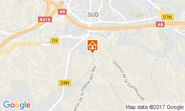 Map Aix en Provence Apartment 112710