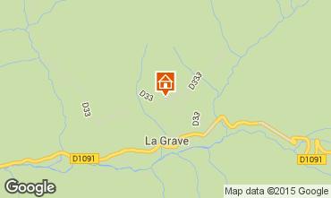 Map La Grave - La Meije Apartment 74724