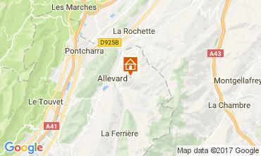Map Le Collet d'Allevard Apartment 112005