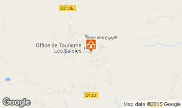 Map Les Saisies Studio apartment 74167