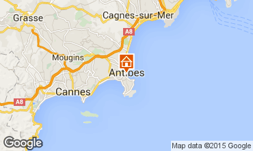 Map Antibes Studio apartment 98215