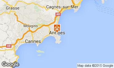 Map Antibes Studio apartment 98215