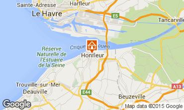 Map Honfleur Apartment 7650