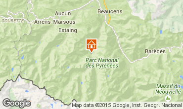 Map Cauterets Apartment 76998