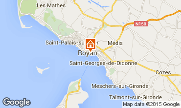 Map Royan Studio apartment 6824