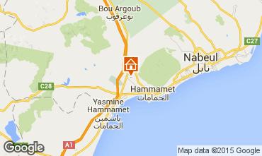 Map Hammamet Villa 92356