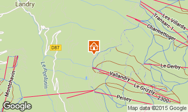 Map Peisey-Vallandry Chalet 74279