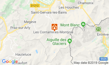Map Les Contamines Montjoie Chalet 32551