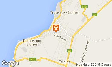 Map Trou-aux-biches Apartment 83923