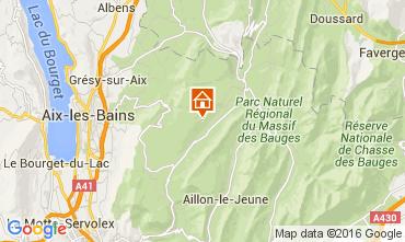 Map Les Aillons Studio apartment 91336