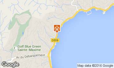 Map Sainte Maxime Villa 70153