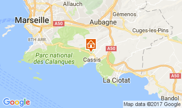Map Cassis Villa 109451