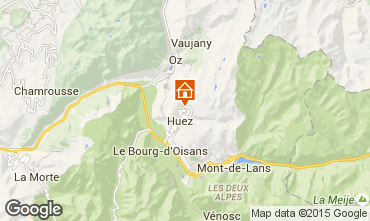 Map Alpe d'Huez Studio apartment 87621
