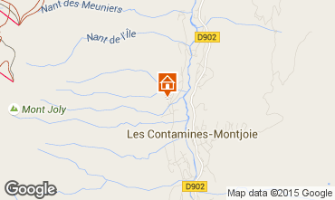 Map Les Contamines Montjoie Chalet 50322