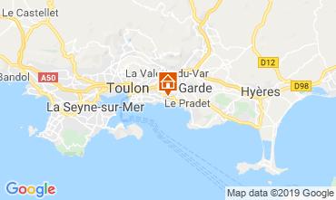 Map Toulon Studio apartment 118866