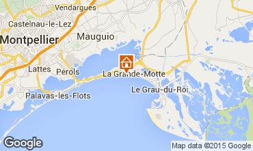 Map La Grande Motte Apartment 30181