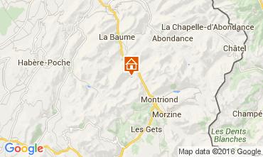 Map Saint Jean d'Aulps- La Grande Terche Apartment 48428