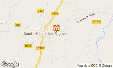 Map Sainte-Cécile-les-Vignes Self-catering property 101257
