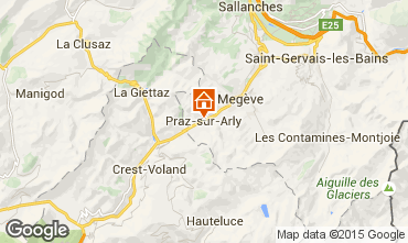 Map Praz sur Arly Studio apartment 2297