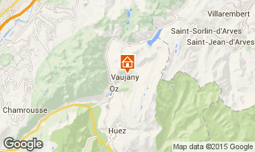Map Vaujany Apartment 72684
