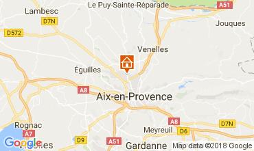 Map Aix en Provence Studio apartment 113137