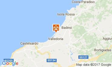 Map Badesi Apartment 59972