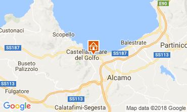 Map Castellammare del Golfo Apartment 66567