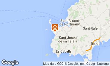 Map Cala Tarida Apartment 102829