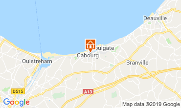 Map Cabourg Apartment 118227