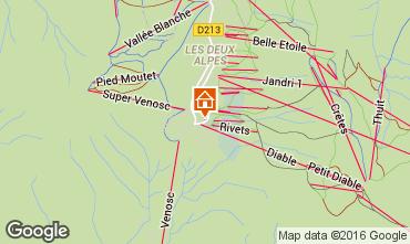 Map Les 2 Alpes Apartment 73704