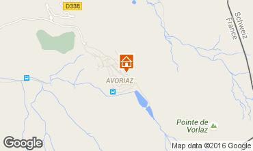 Map Avoriaz Apartment 73917