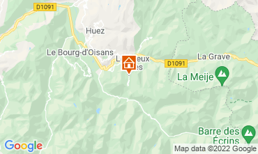 Map Les 2 Alpes Apartment 106612