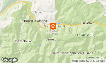 Map Les 2 Alpes Apartment 50663