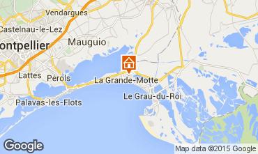 Map La Grande Motte Apartment 77910
