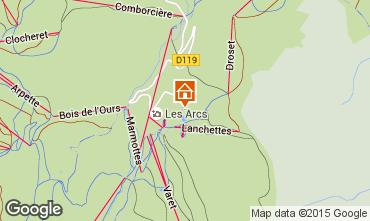 Map Les Arcs Studio apartment 233