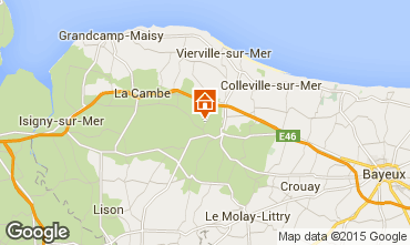 Map Bayeux Self-catering property 11456