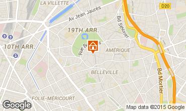 Map PARIS Studio apartment 63317