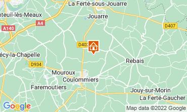 Map Marne la Vallée Self-catering property 107157