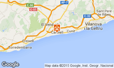 Map Calafell Apartment 51755