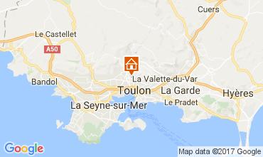Map Toulon Villa 110307