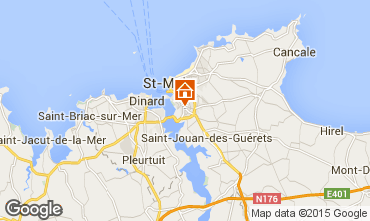 Map Saint Malo Studio apartment 90621