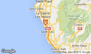 Map Saint Leu Studio apartment 26603