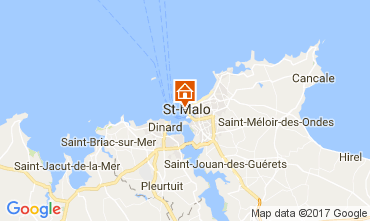 Map Saint Malo Apartment 111558
