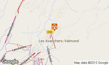Map Valmorel Apartment 76575