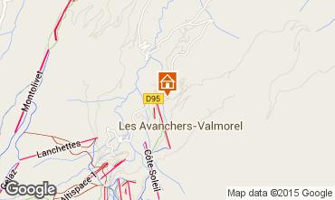Map Valmorel Apartment 76575