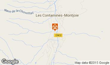 Map Les Contamines Montjoie Apartment 18006