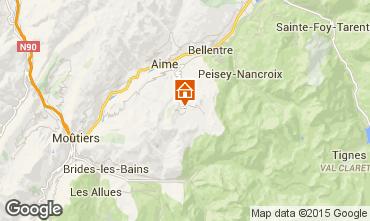 Map La Plagne Chalet 56090